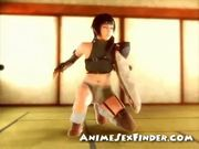3d teen ninja fingered!