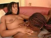 Hot ebony lez pussy play