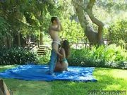 Charlene aspen gets pounded outdoor - peter north