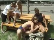 Outdoor groupsex with demi, sintia and jenny