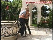 Hot blonde Dasha getting good sex outdoor