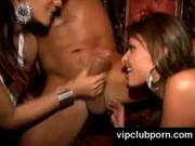 Real nasty party sluts fucking guy in public