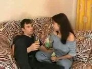 Young sister fucked by brother after drinking wine