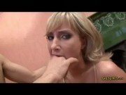 Blonde hottie Xandy got her mouth fuck at Gags Girls