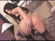Mindy Vega - Beautifull Black Lingerie Striptease