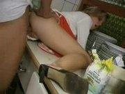 Chef's Cum On The Waitress' Pussy