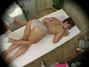 Young fashion model massaged to orgasm by health massager 1