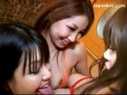 Slim Girl Getting Her Pussy Fucked With Vibrator Kissing Spitting 3 Girls In The Hotel Room