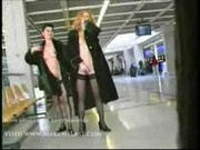 Jessica and Anna Airport-Voyeur