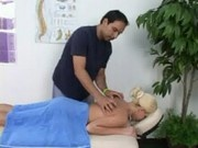 Kinzi Jo getting massage free at Daddys Friend