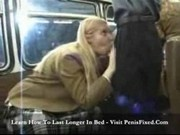 Cute Blonde Handjob on Bus with Asian Guy2