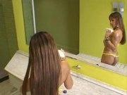 Mayara Rodrigues fucking two cocks