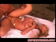 Hot blonde Alexa Rae fuck hard at the beach