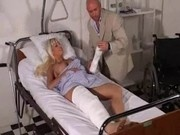 Gorgeous Busty Blonde in hospital