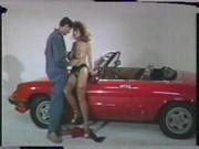 Christy Canyon shooting a commercial