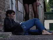 Deborah Wells awesome scene on stairs with homeless guy