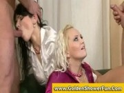 Steamy golden shower orgy