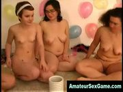 Lesbian dorm friends play sex games