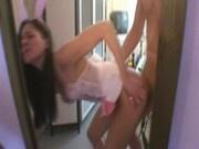 Amateur Girl Dressed like A Bunny