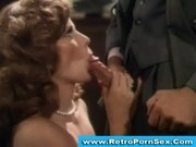Lisa De Leeuw sucking off John Leslie in 1970s porn movie