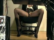 Secretary underdesk masturbation