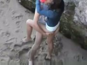 Getting fucked at the beach