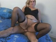 Old mature fat blonde french whore sucks cock
