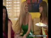 Horny cougars go wild with a boy