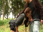 Amandine French Teen Great Fuck In Da Wood