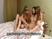 Ady and Milka and Dixie from sapphic erotica, lesbian babes fingering