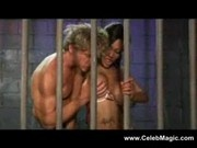 Sexy Black girl fucks in jail