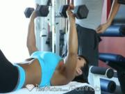 LISA ANN WORKOUT IS GIVING A YOUNG MAN A HARD COCK - PUREMATURE