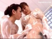 2 Asian Girls Soaping Rubbing Each Other Bodies Tits Under The Shower