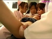Schoolgirl Fucked With Strapon By Doctor Nipples Sucked By 2 Nurses In The Operation Room