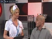 Busty nurse helps the patient to heal as soon as possible
