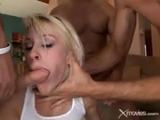Blonde Slut Gets Gangbanged By Baseball Players - XMovies