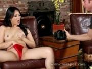 Asian babe pussy rub