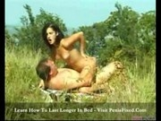 Jana - sexy brunette naked in the fields