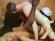 Blonde fucked in pantyhose