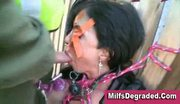Milf humiliation bondage throat fuck