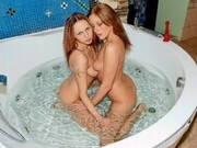 Angels Kristine and Lis Bath Play