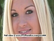 Adorable amateur blonde playing
