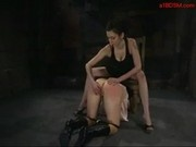 Slave Girl Licking Mistress Feets Pussy And Asshole Stimulated Fucked With Electric Toys In The Dung