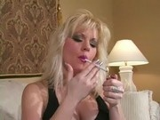 Hot Blonde MILF Erin Smoking
