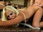 Orgy party babes group bang