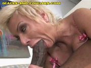 Milf plowed by young black