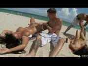Beach babes fucked hard!