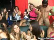 Wild girls sucks stripper cock