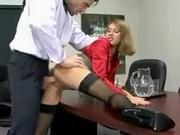 Office Slut Lydia Lee Fucks Her Boss for a Raise
