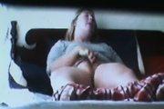 Voyeur spycam saw teen horney blonde masturbating with purpl